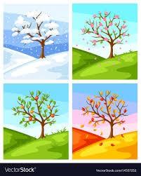 δέντρα στις 4 εποχές